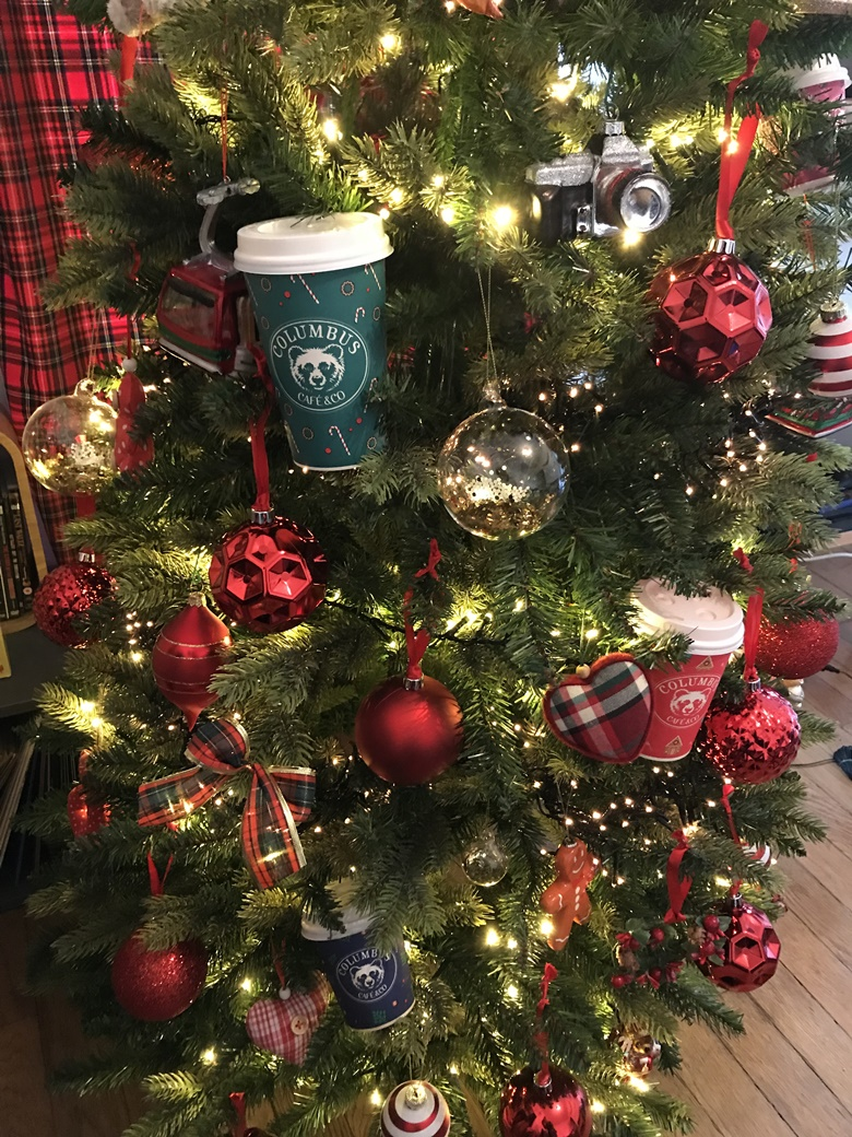 Gobelets Starbucks Colombus Noel decoration
