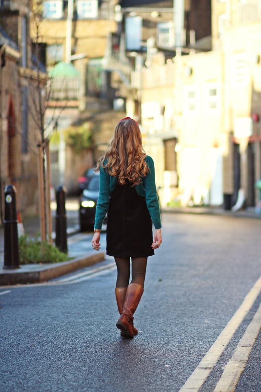 blog mode femme salopette velours serre tete