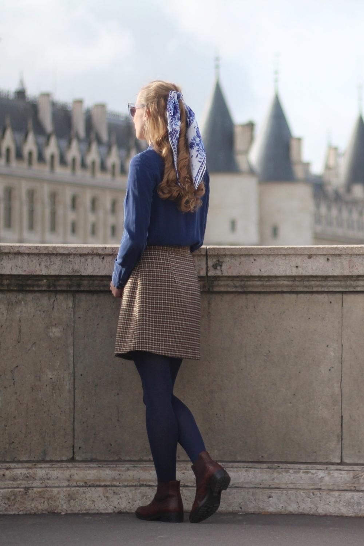 allee du foulard carre soie cheveux accessoire blog mode paris