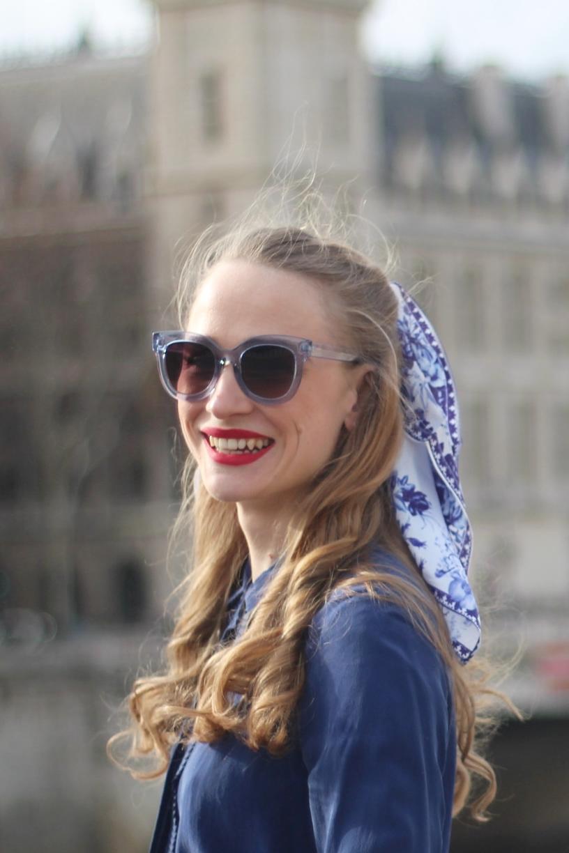allee du foulard carre soie cheveux accessoire piccolo rosablue blog mode paris