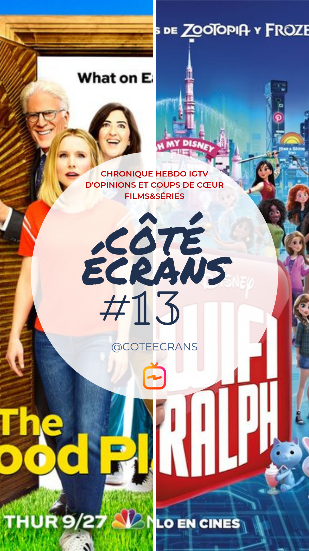 Critique film et serie The Good Place et Ralph 2.0