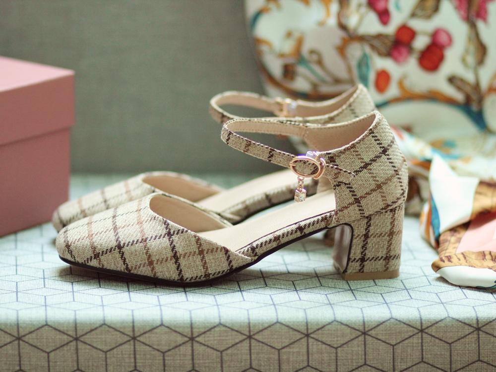 Chaussures preppy automne laine carreaux