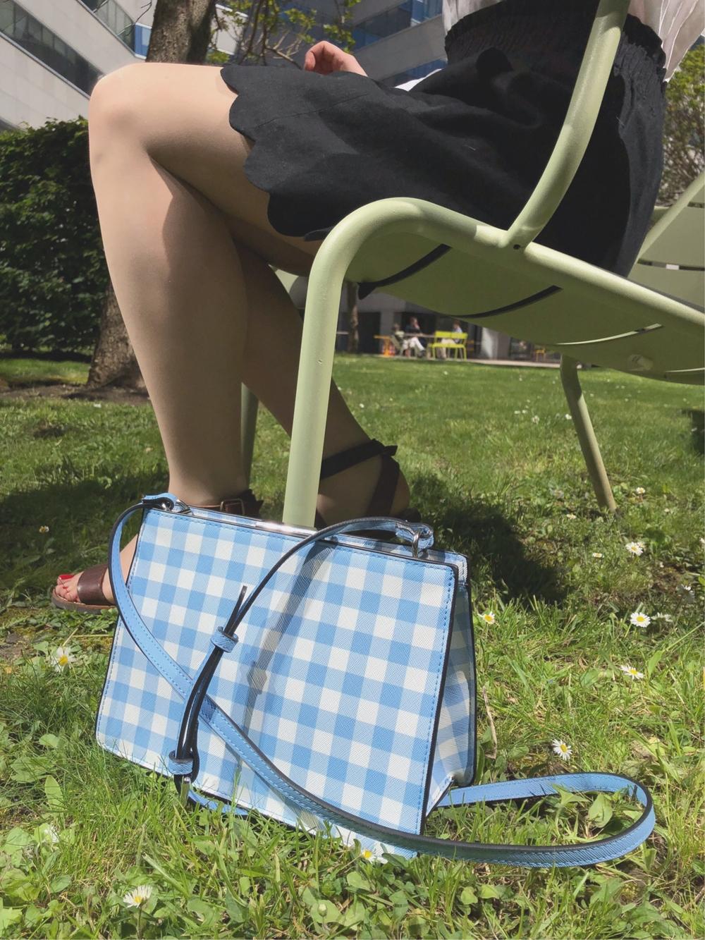 sac vichy bleu
