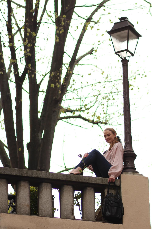 Porter chaussures pointues tenue travail bureau chemise romantique
