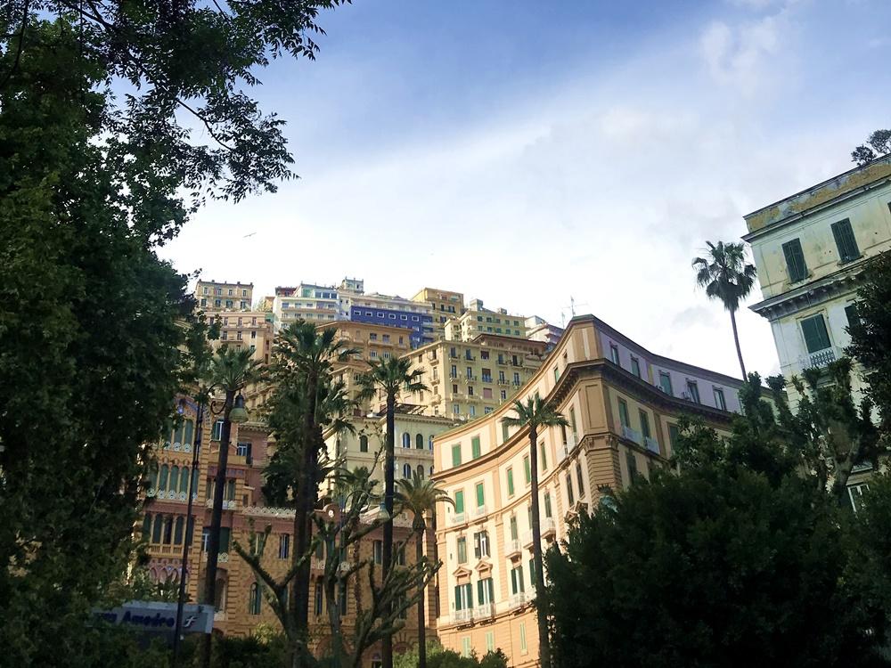 la vue depuis la via del Parco Margherita