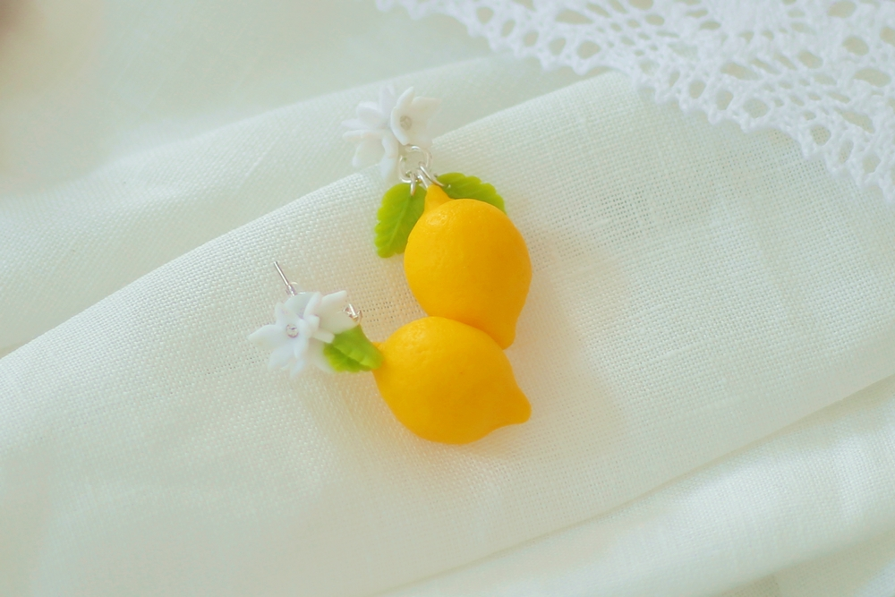 Boucles d'oreille citron Citrus Lemon Earrings