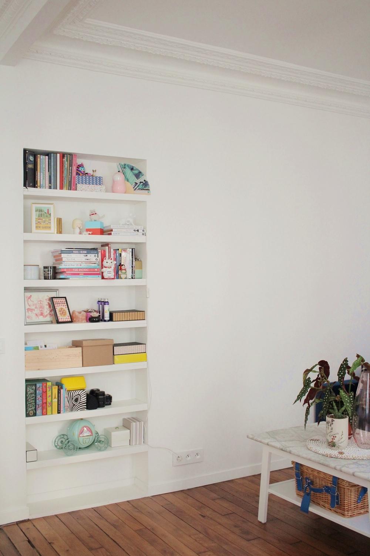 appartement parisien pantin bibliothèque integree
