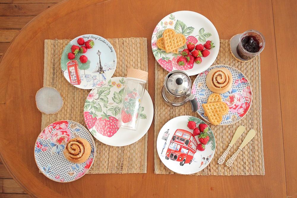 Cath Kidston assiettes dessert et melaminé/melaminate&tea plates