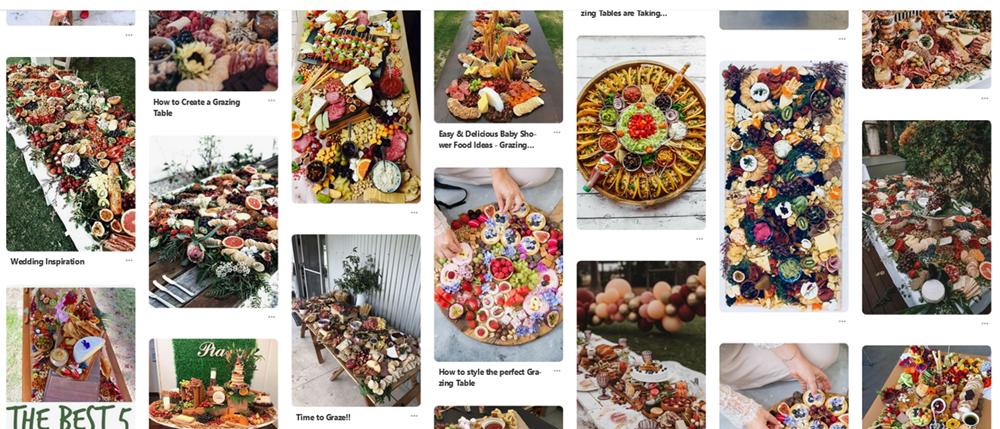 quand on recherche Grazing tables sur Pinterest