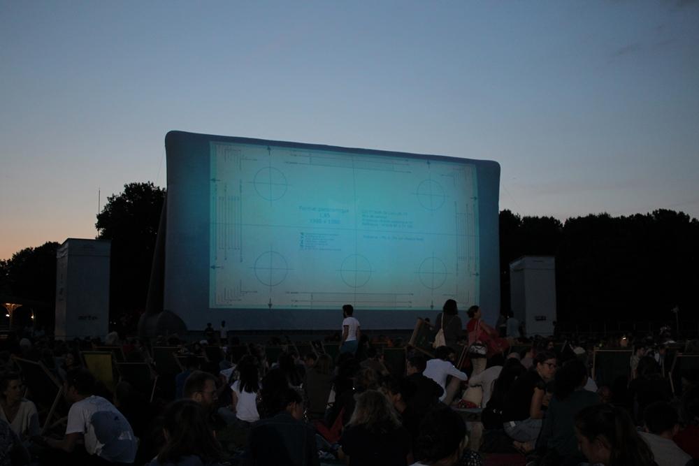 Cinema plein air villette