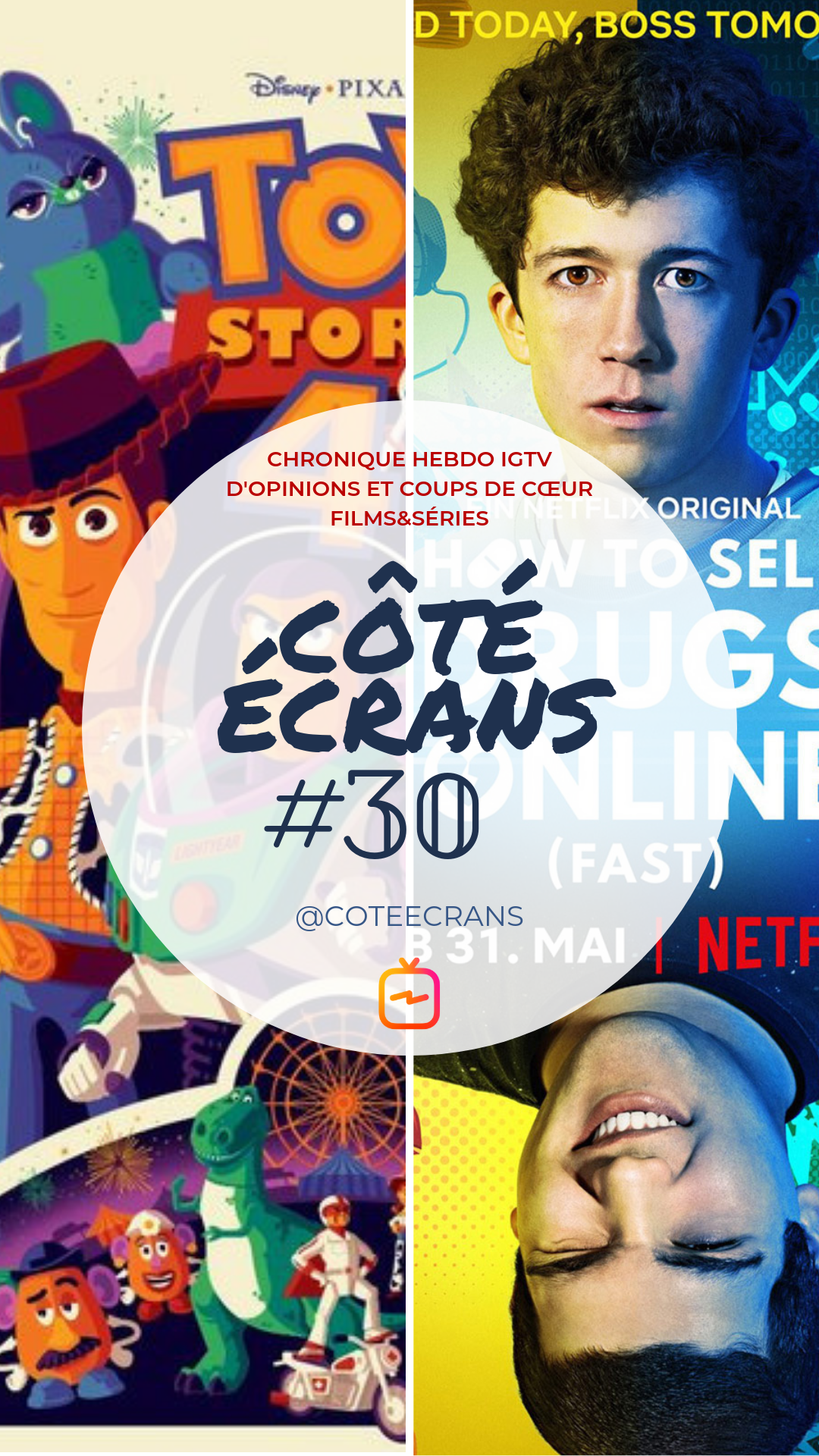 Critique film et serie : Toy Story 4 et How to sell Drugs Online (fast)