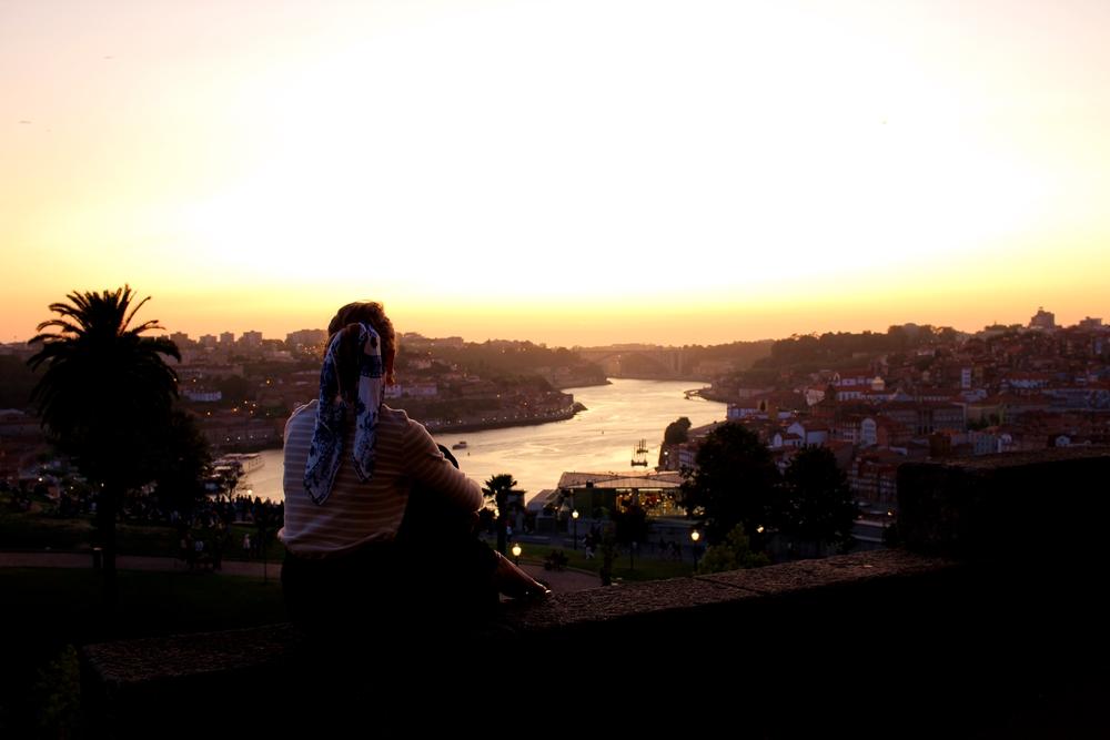 Le coucher de soleil depuis le Mosteiro da Serra do Pilar