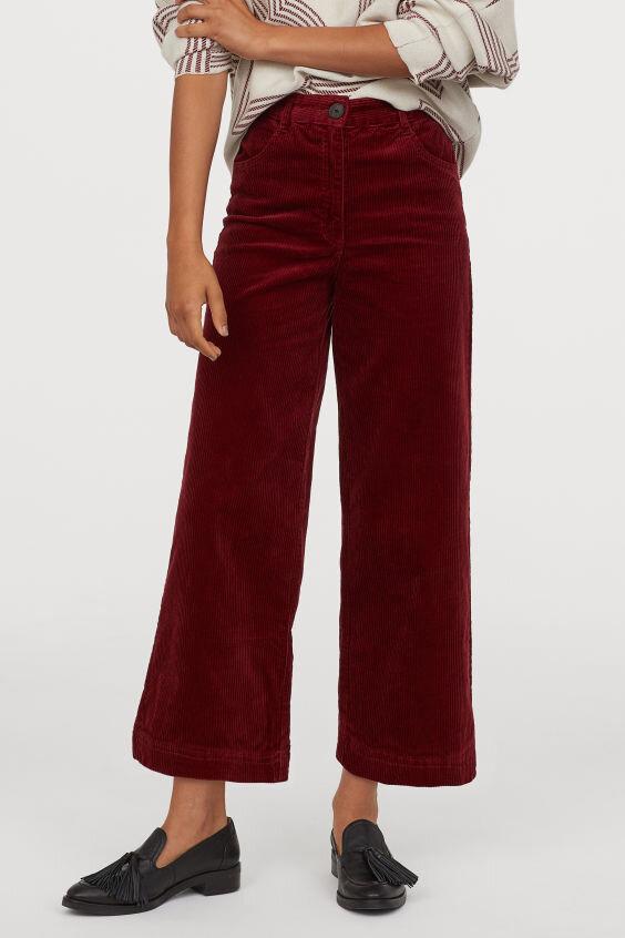 Pantalon en velours côtelé - H&M