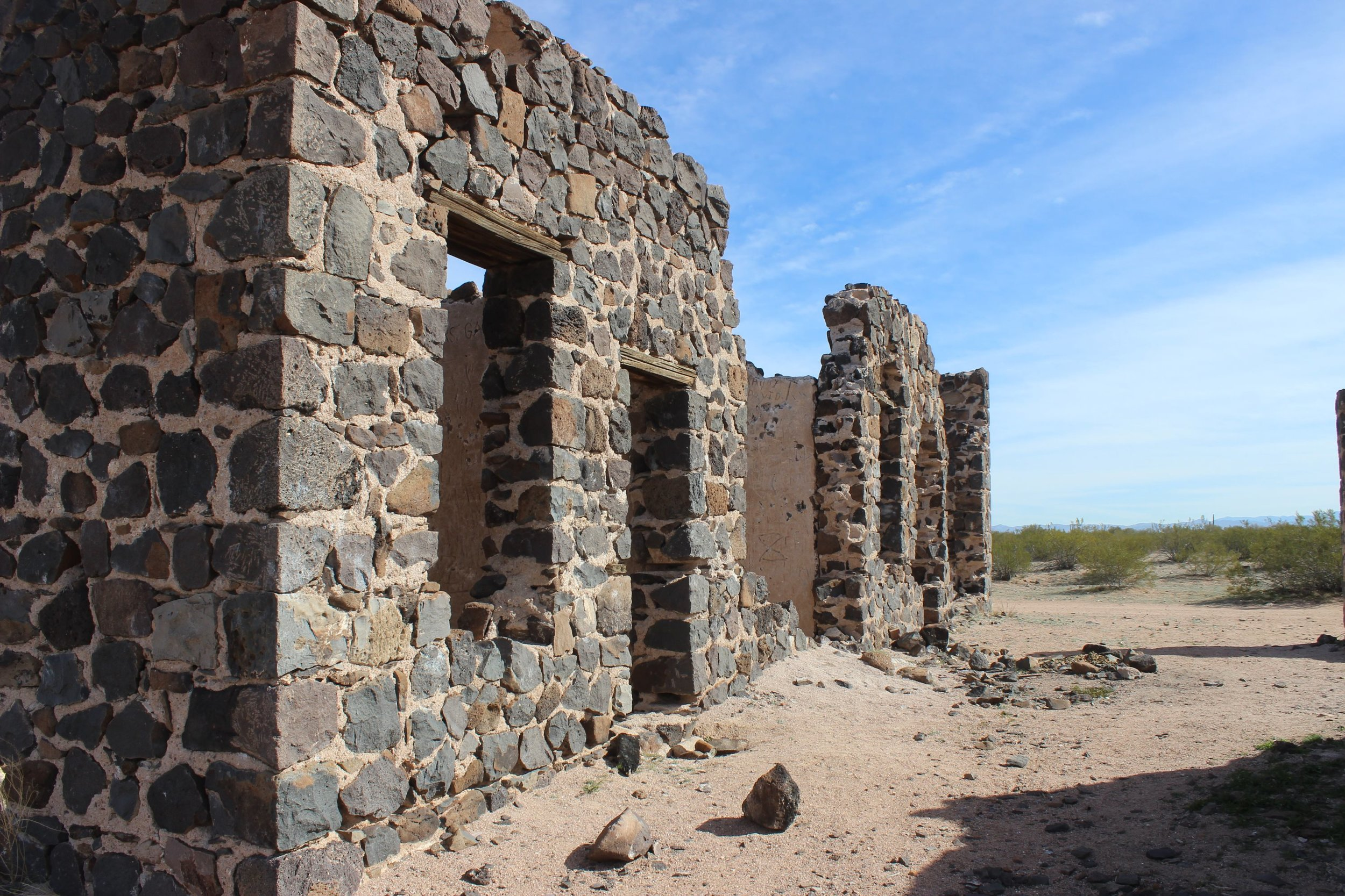 Ruins of the Hotel Rockland, east of the main townsite