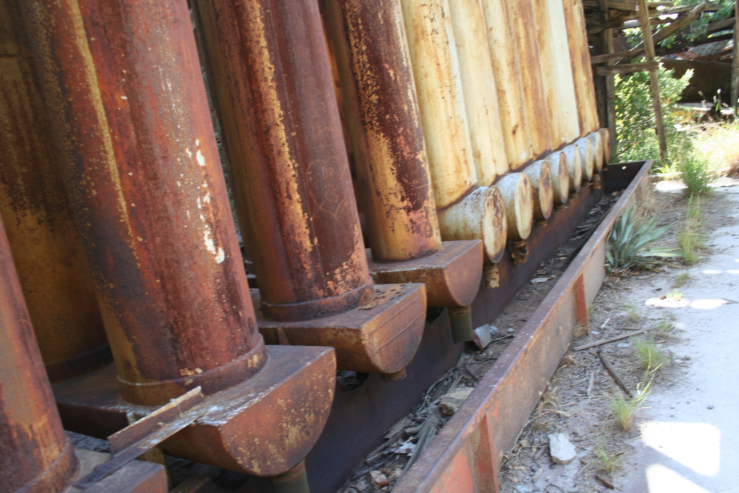 "A portion of the ""U"" shaped pipes used to make mercury"