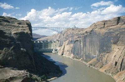 Construction of Glen Canyon Dam [1961]