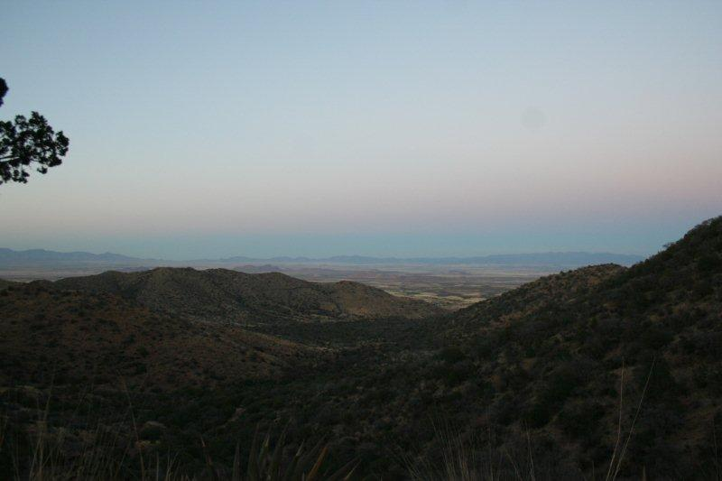 The Sulphur Springs Valley from Middlemarch Rd, near Pearce.