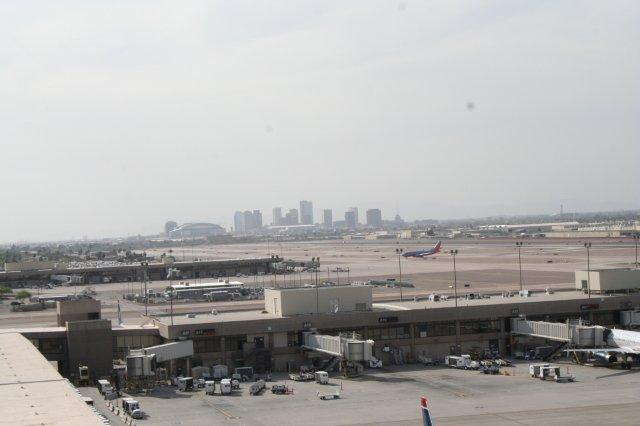 Downtown Phoenix from the airport