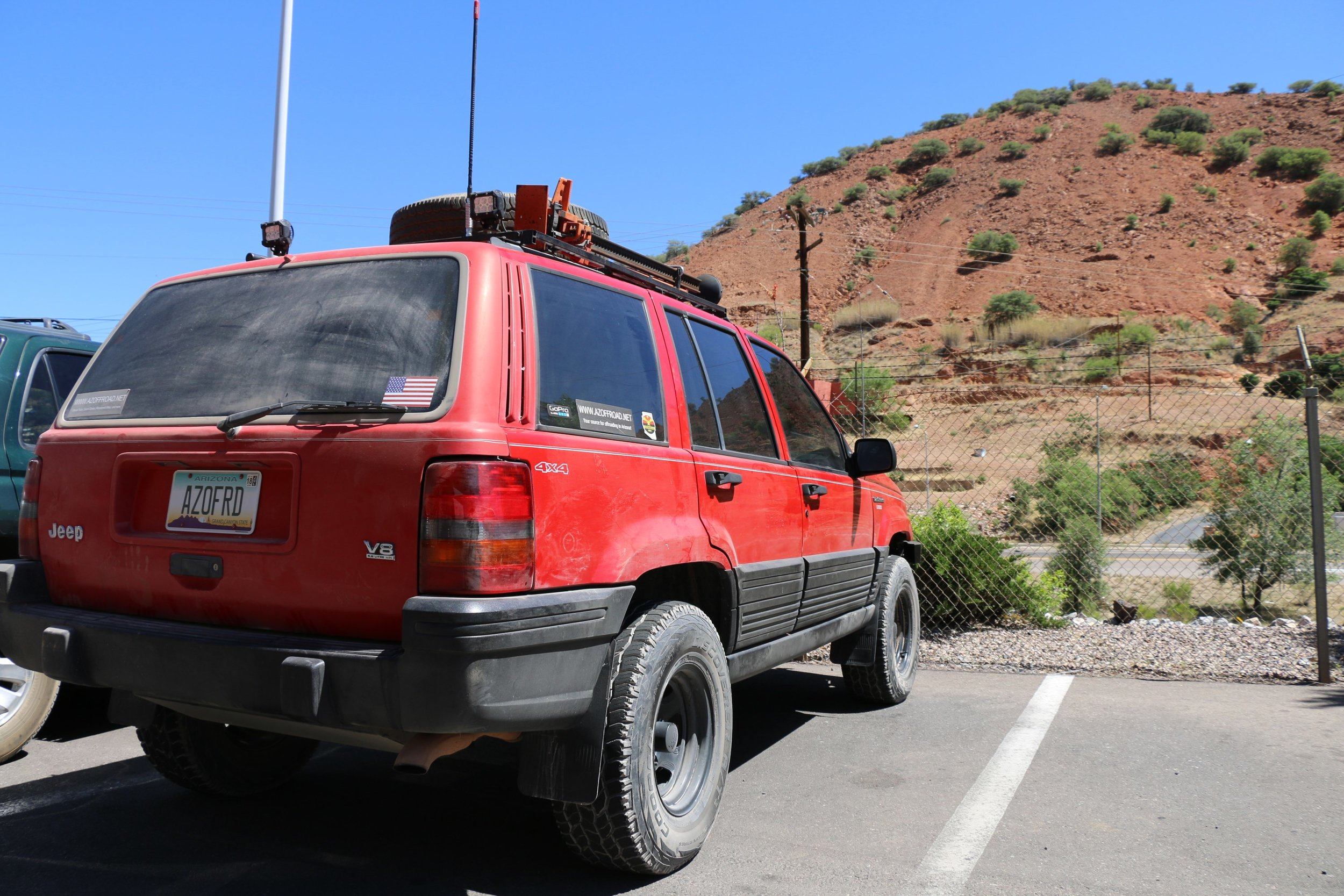 Parked in Bisbee before heading back on the highway.