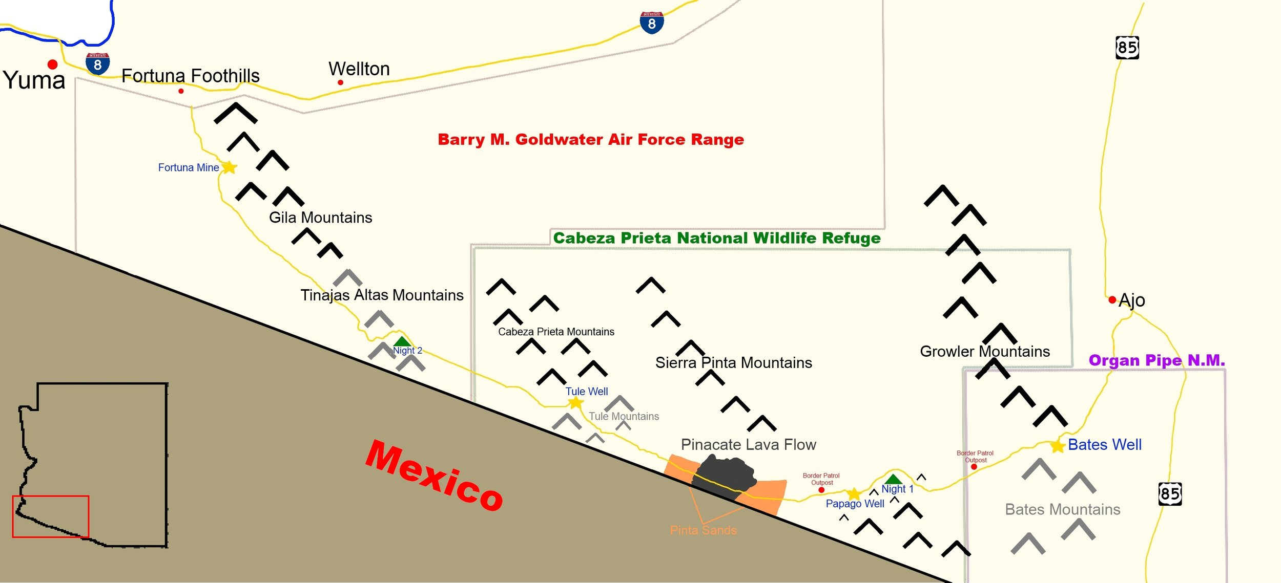 Map of our route on El Camino. Click to enlarge all pictures.