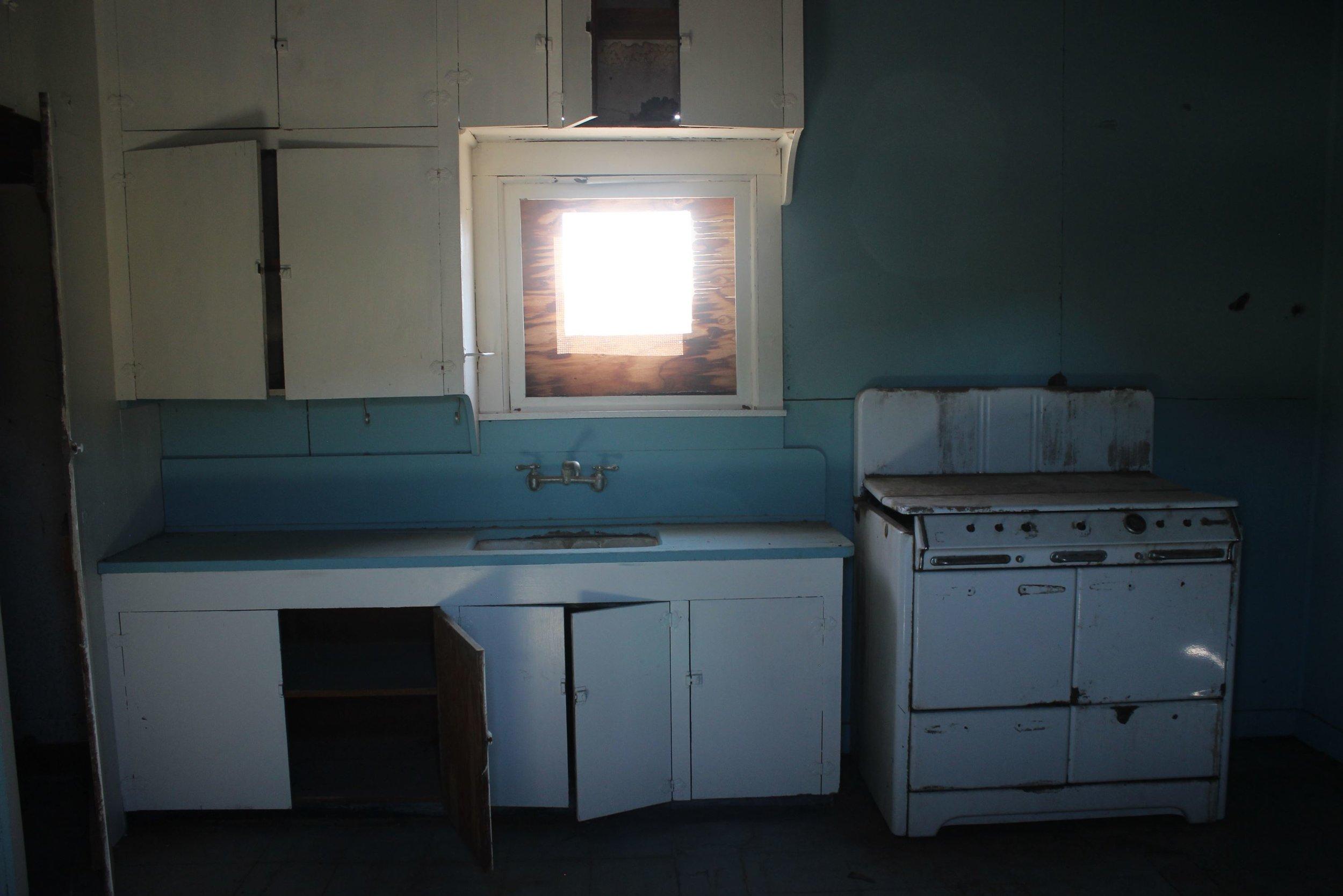 Inside of Bates Cabin.