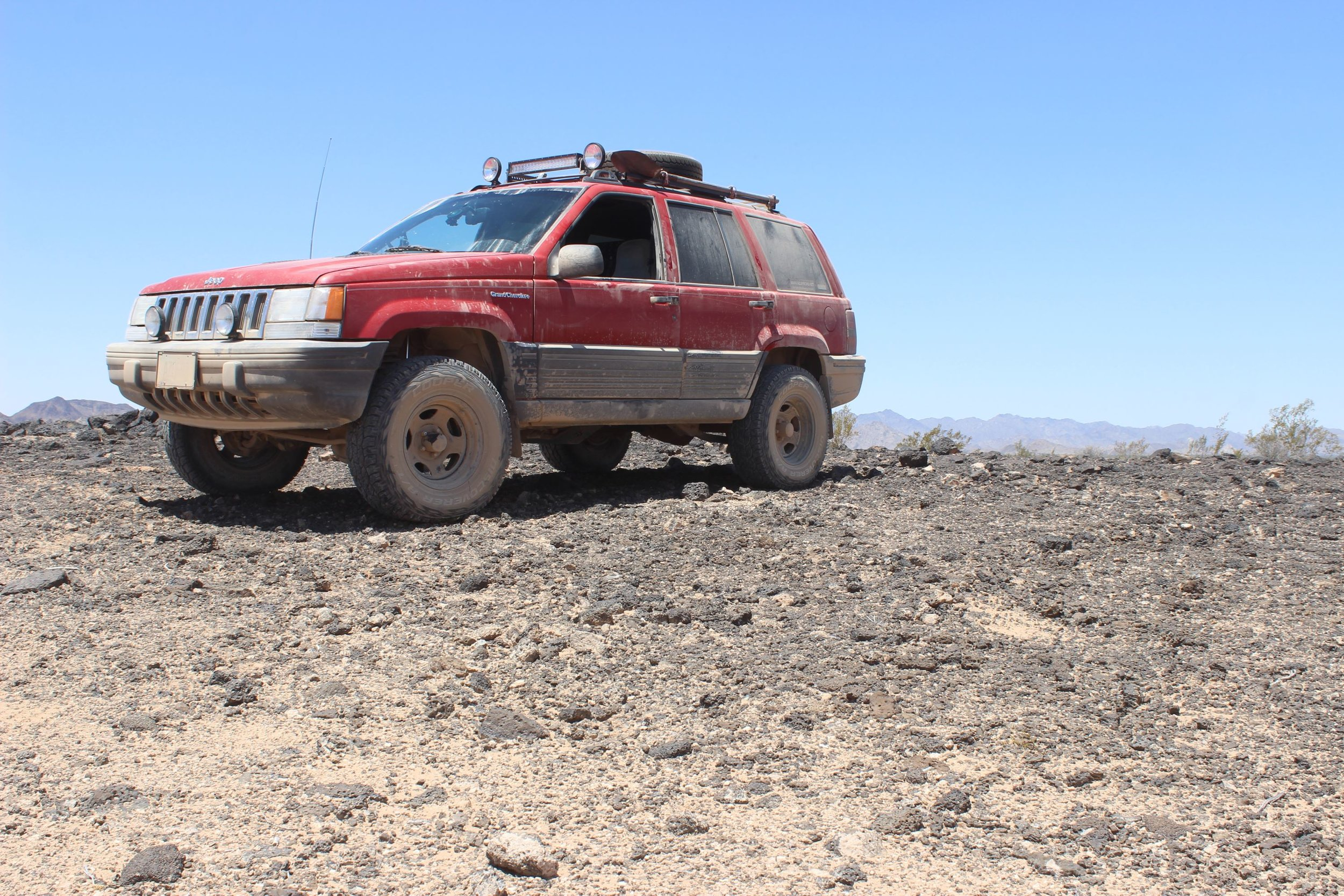 Perched on the Pinacate Lava Flow.