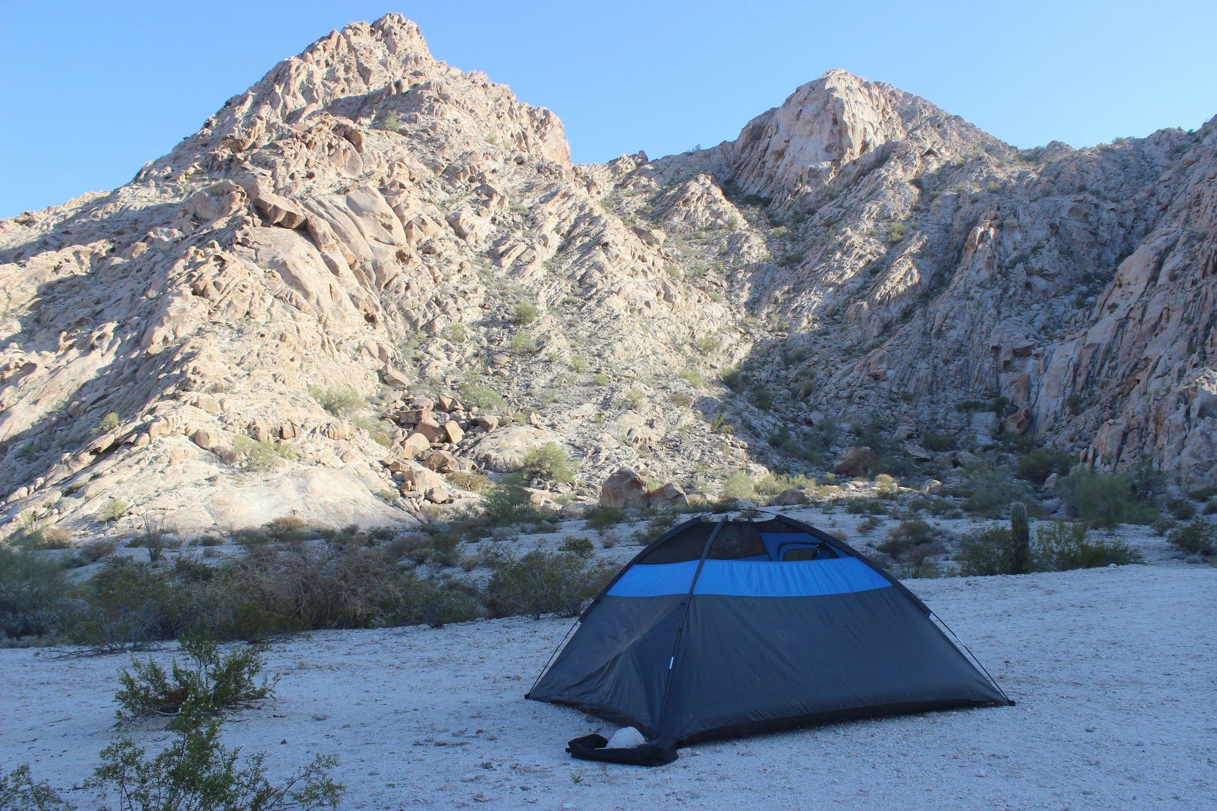 2nd night's camp at Tinajas Altas.