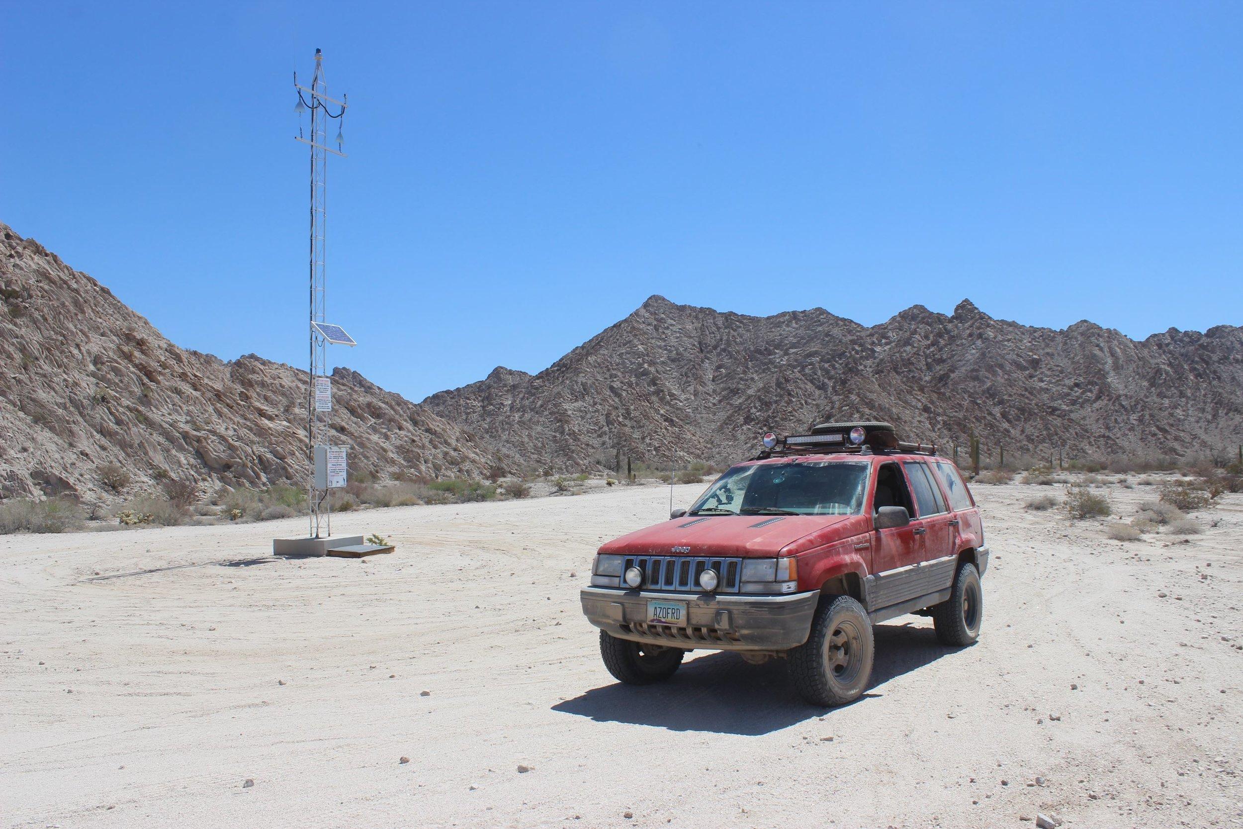 West side of Tinajas Altas Pass.