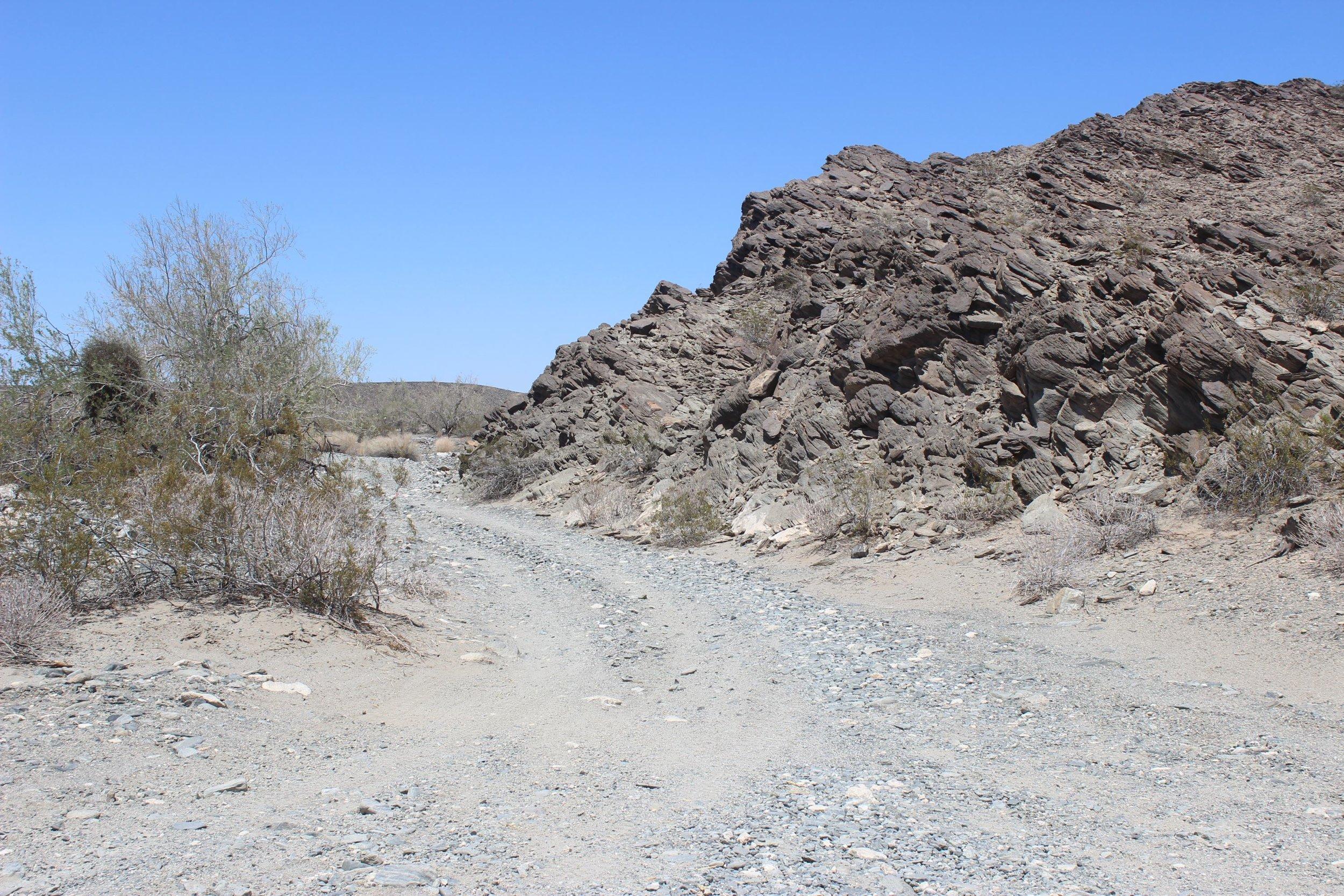 Rough trail near Fortuna Mine.