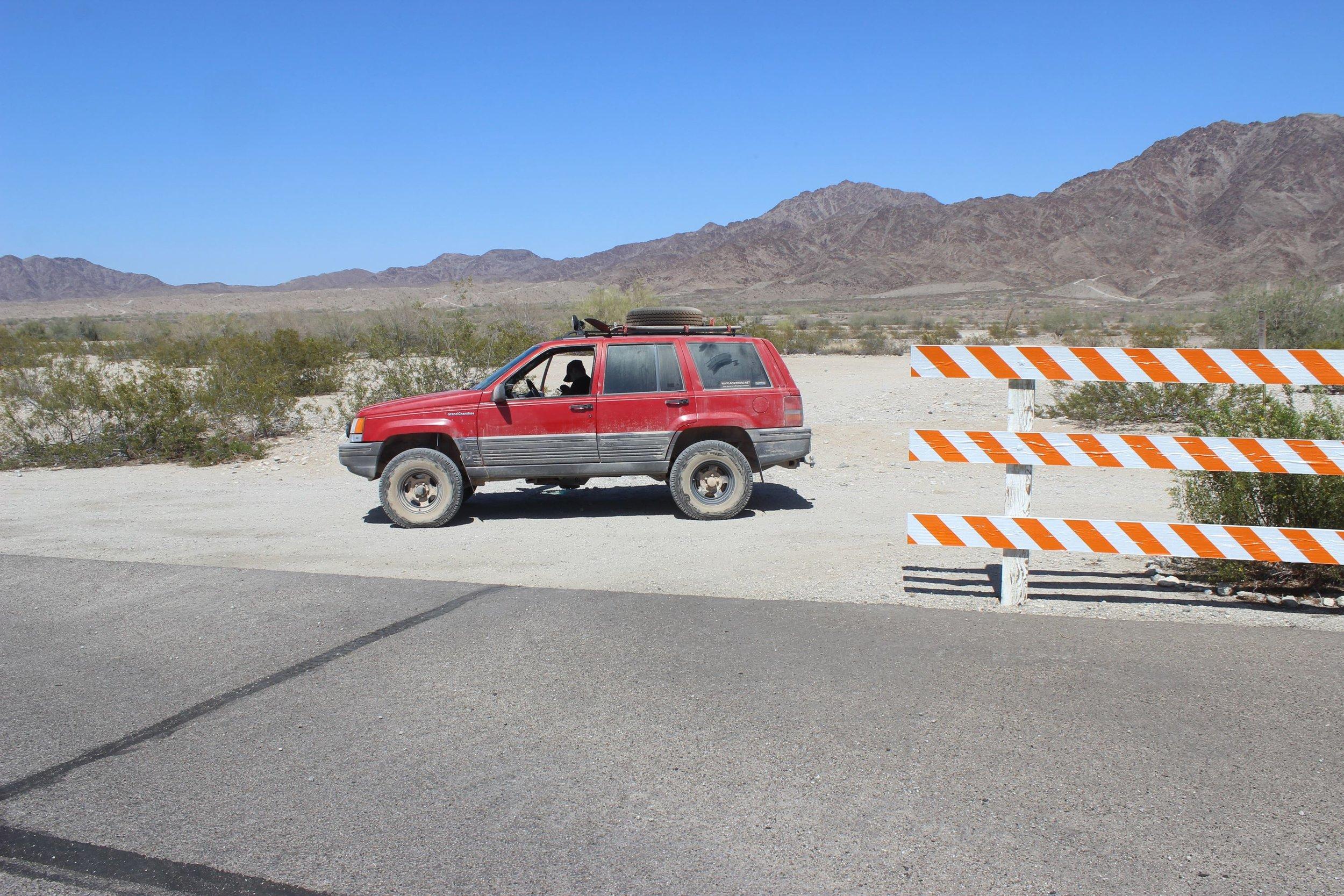 Airing up at the end of El Camino Del Diablo