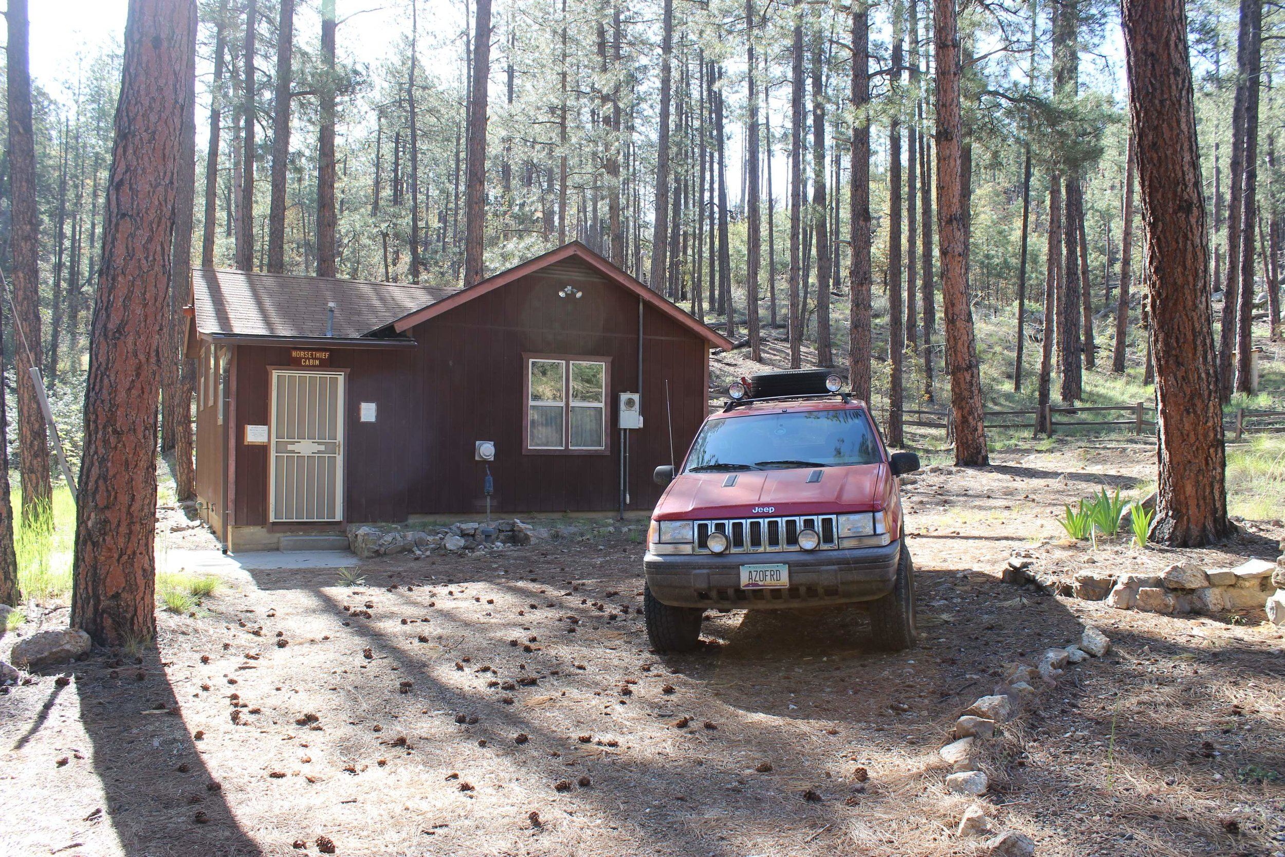 Horsethief Cabin in the morning