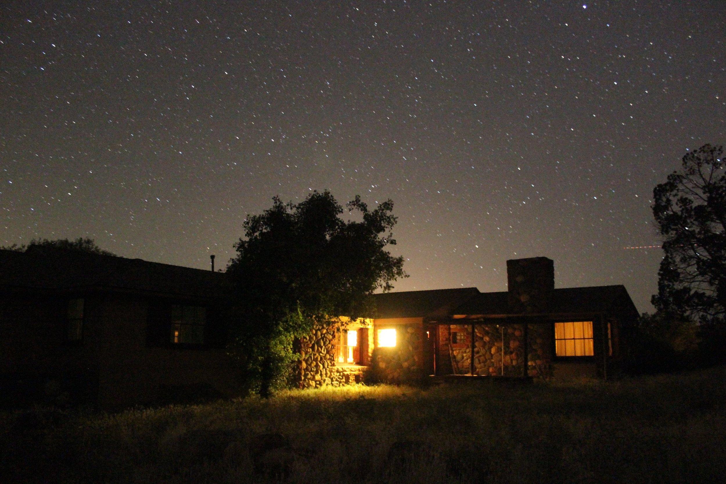 Crescent Moon Ranch at night