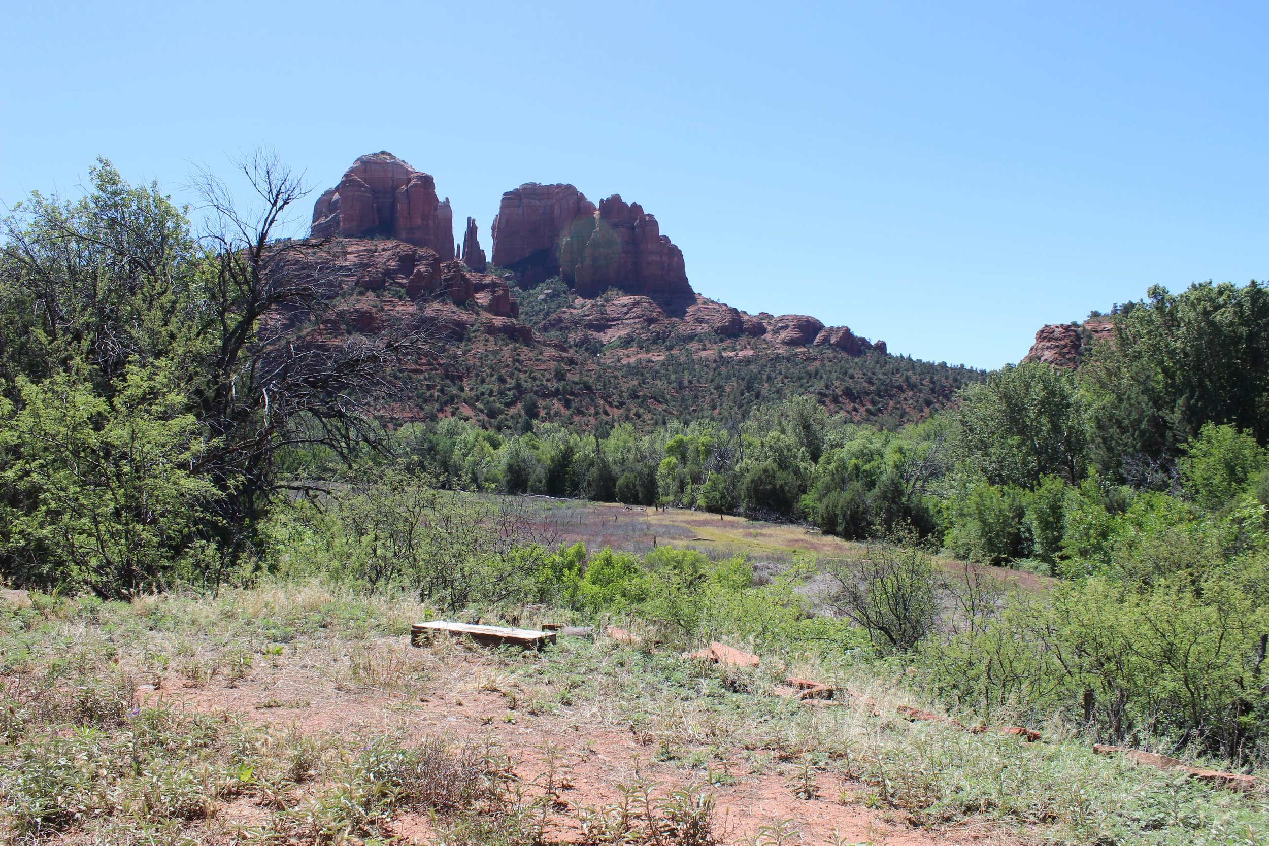 Cathedral Rock as seen from Crescent Moon Ranch