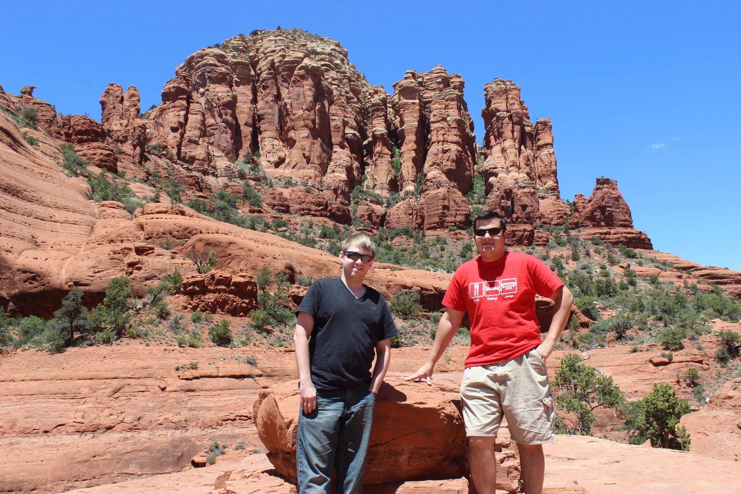 Daniel & Scotty at Chicken Point