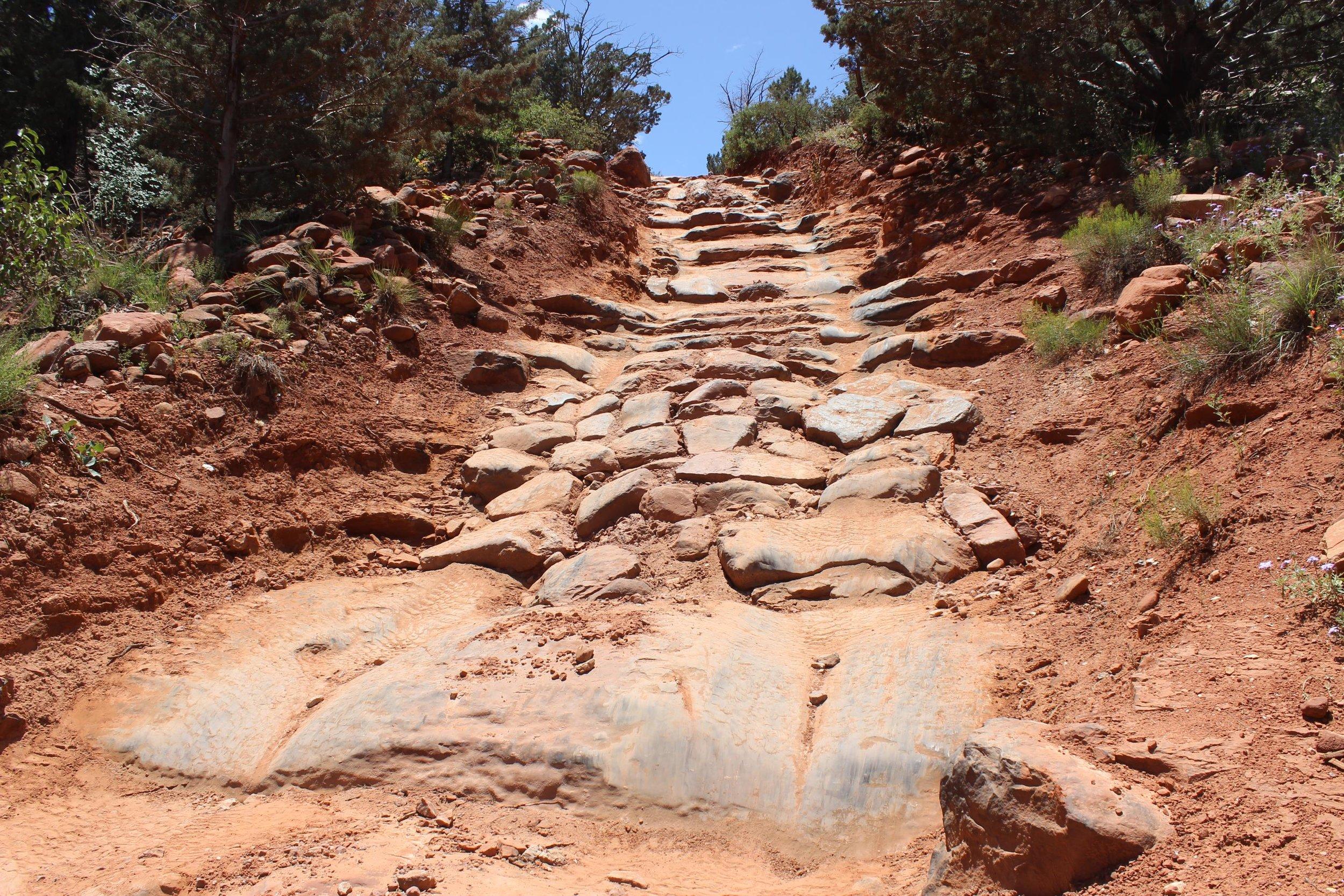 Devil's Staircase along Broken Arrow