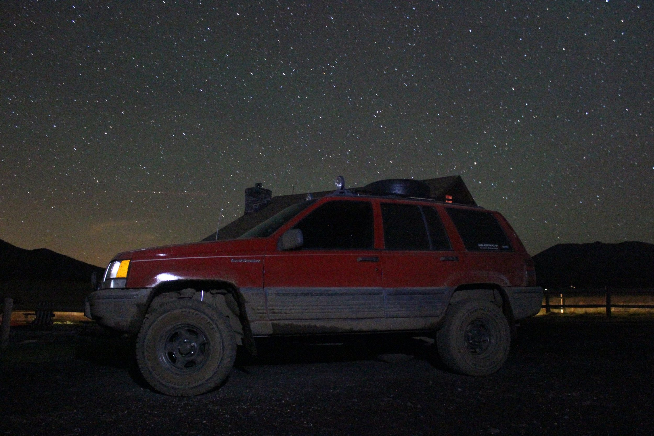 The Jeep at night
