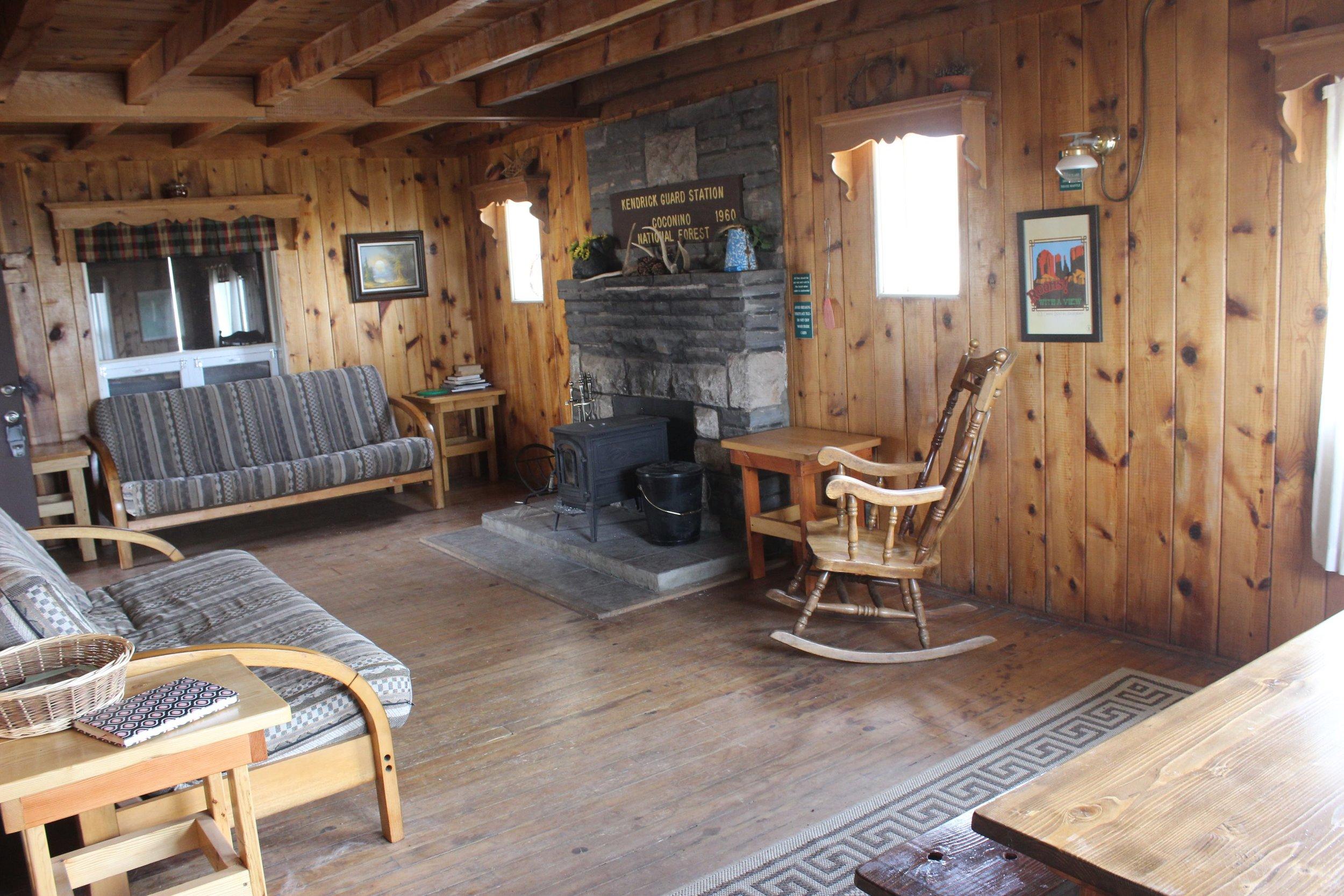 Inside of Kendrick Cabin