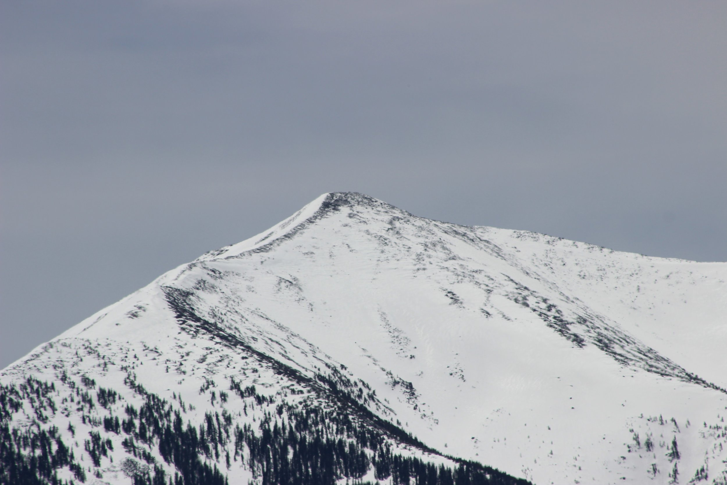 Snowcapped Humphrey's Peak as seen from Kendrick Cabin