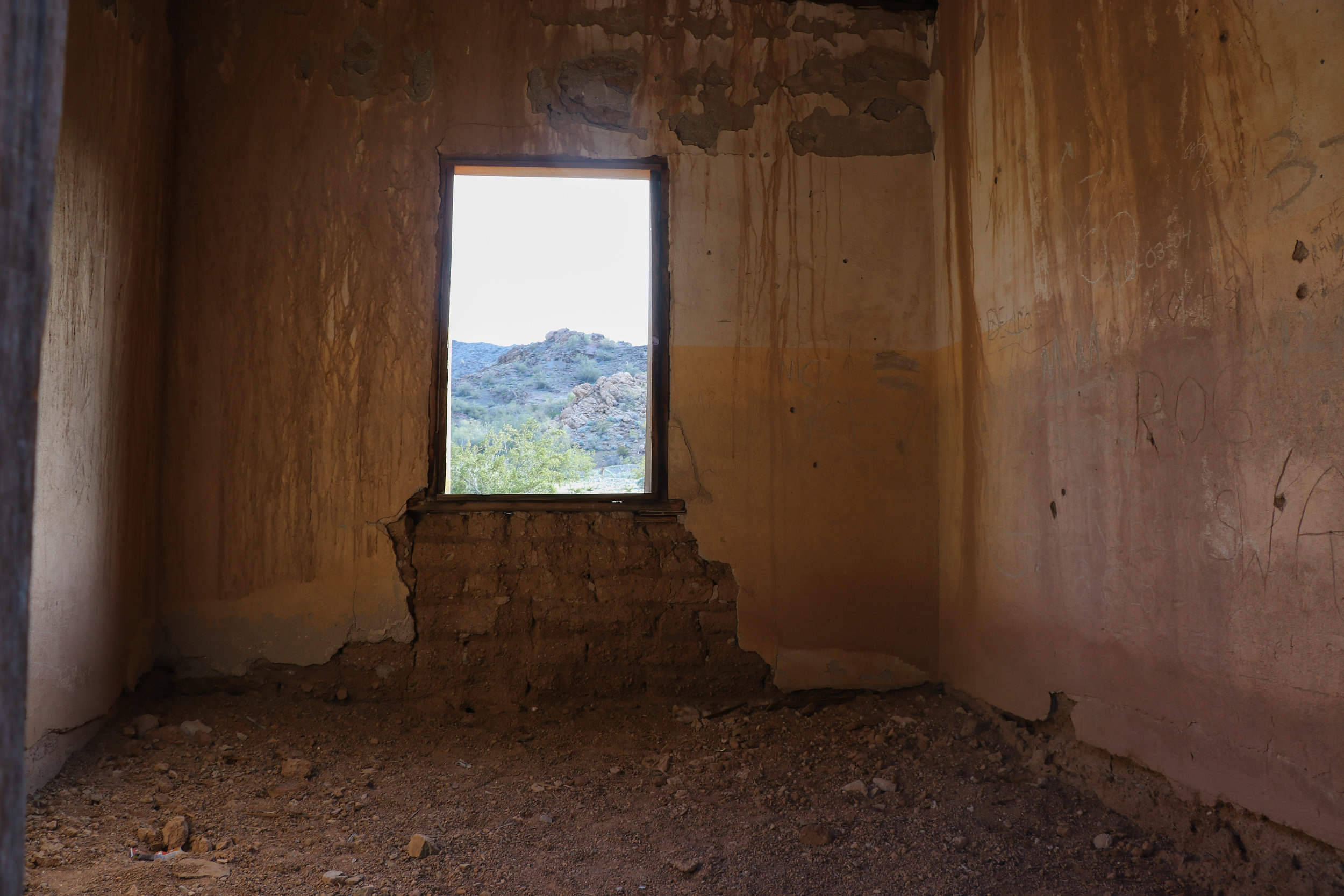 Inside the the company houses at Swansea Ghost Town.