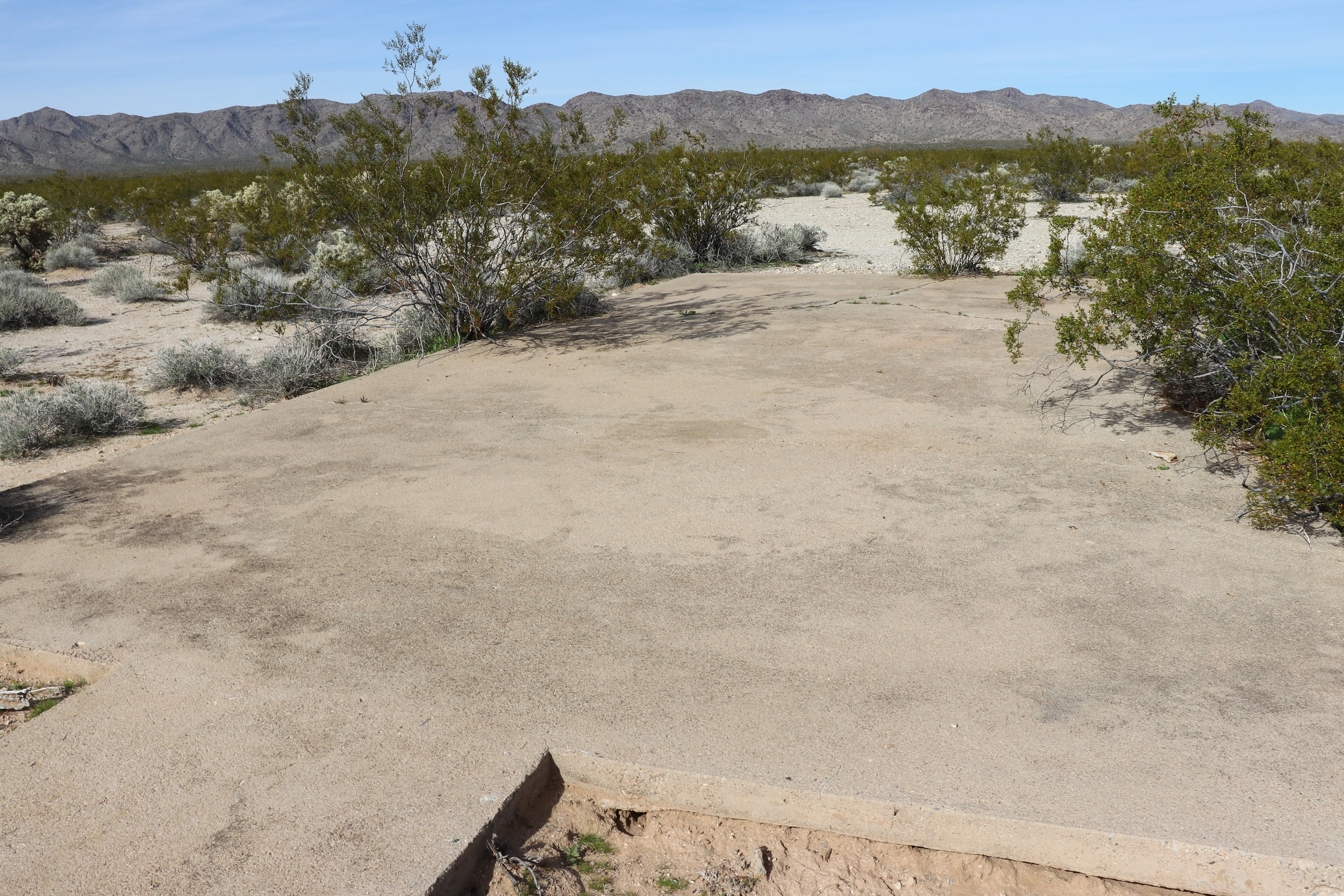 The pad where the hospital would have stood.