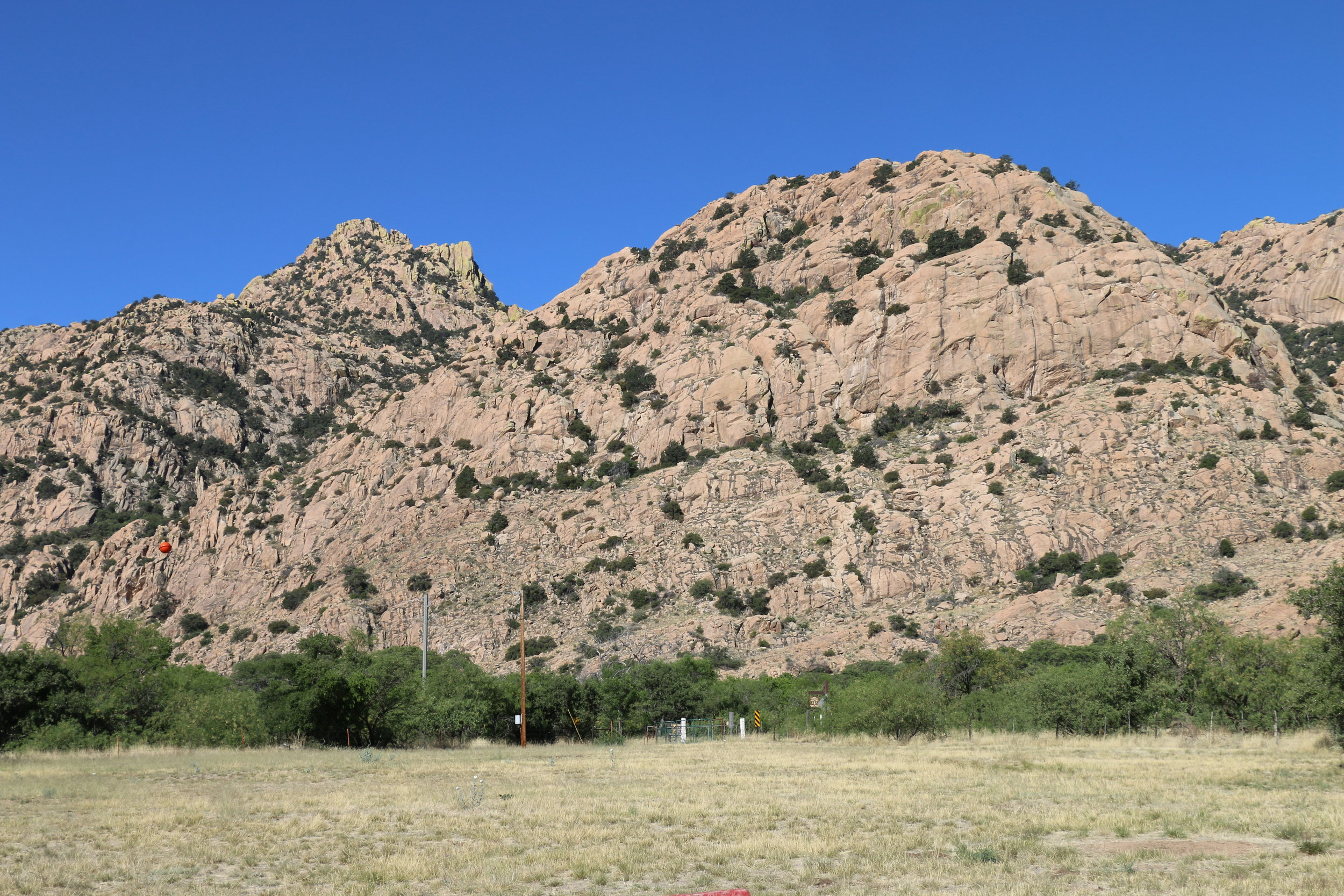 The beauty of Cochise Stronghold as seen from Half Moon Ranch.