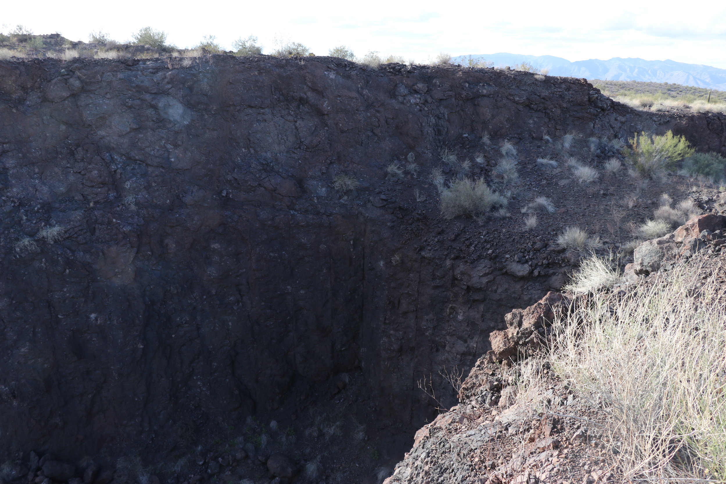 The manganese pit just south of the Purple Pansy.