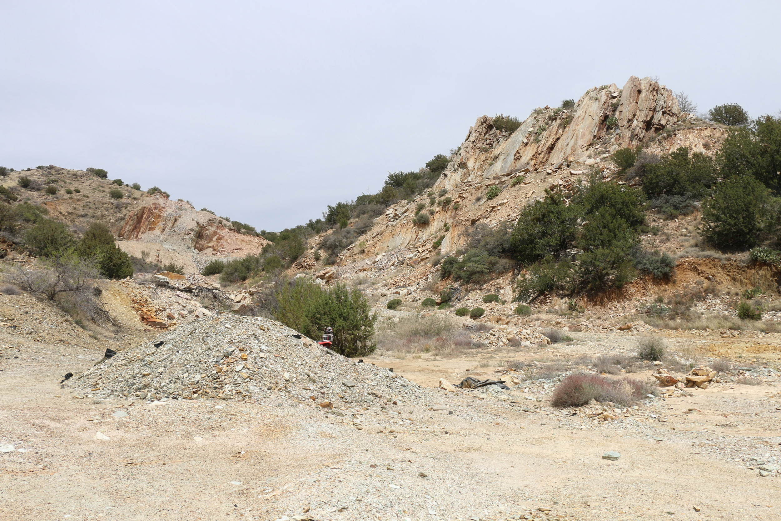 Looking north at the Blue Bell mine/quarry ruins.