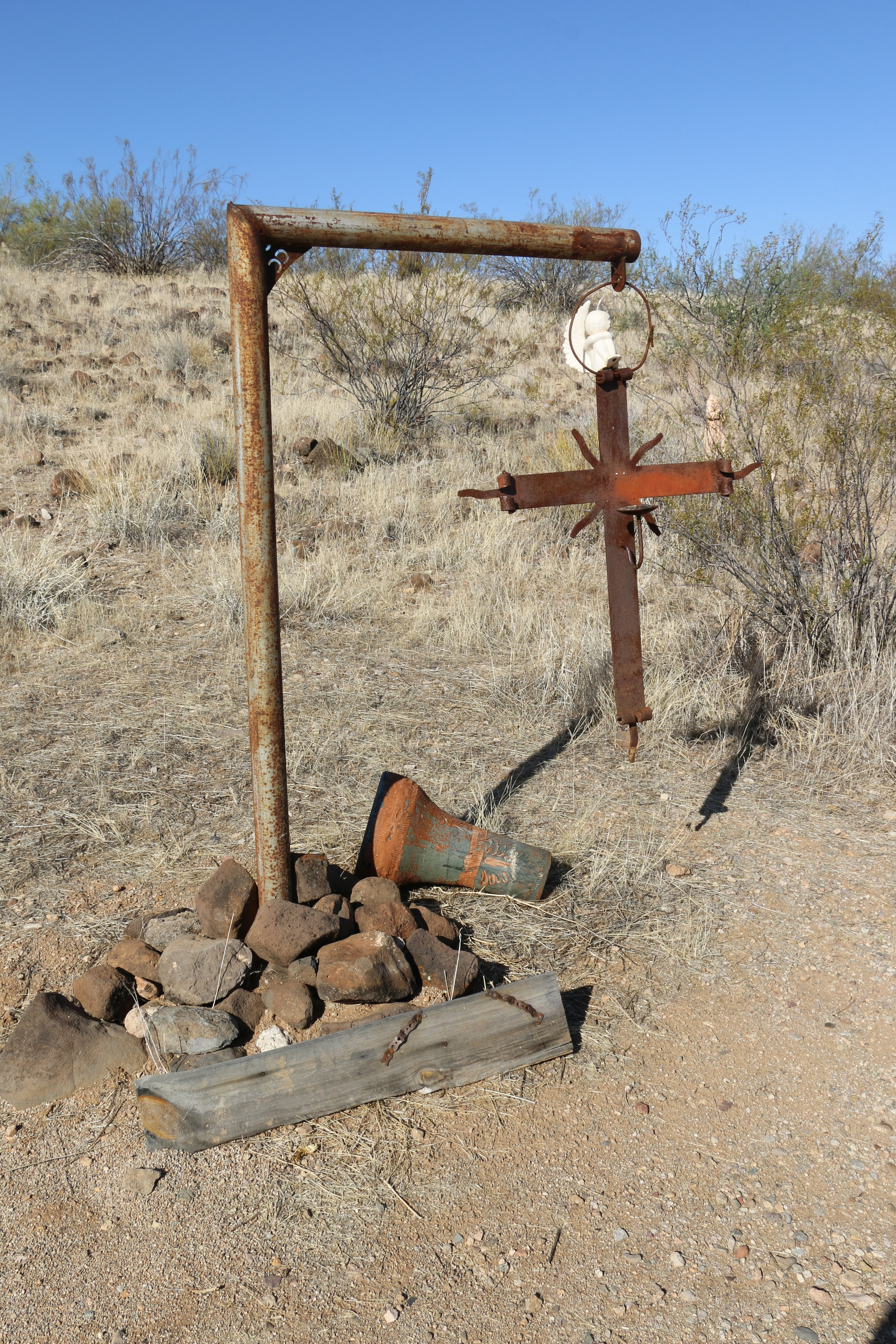 Markers at the Wickenburg Massacre site.