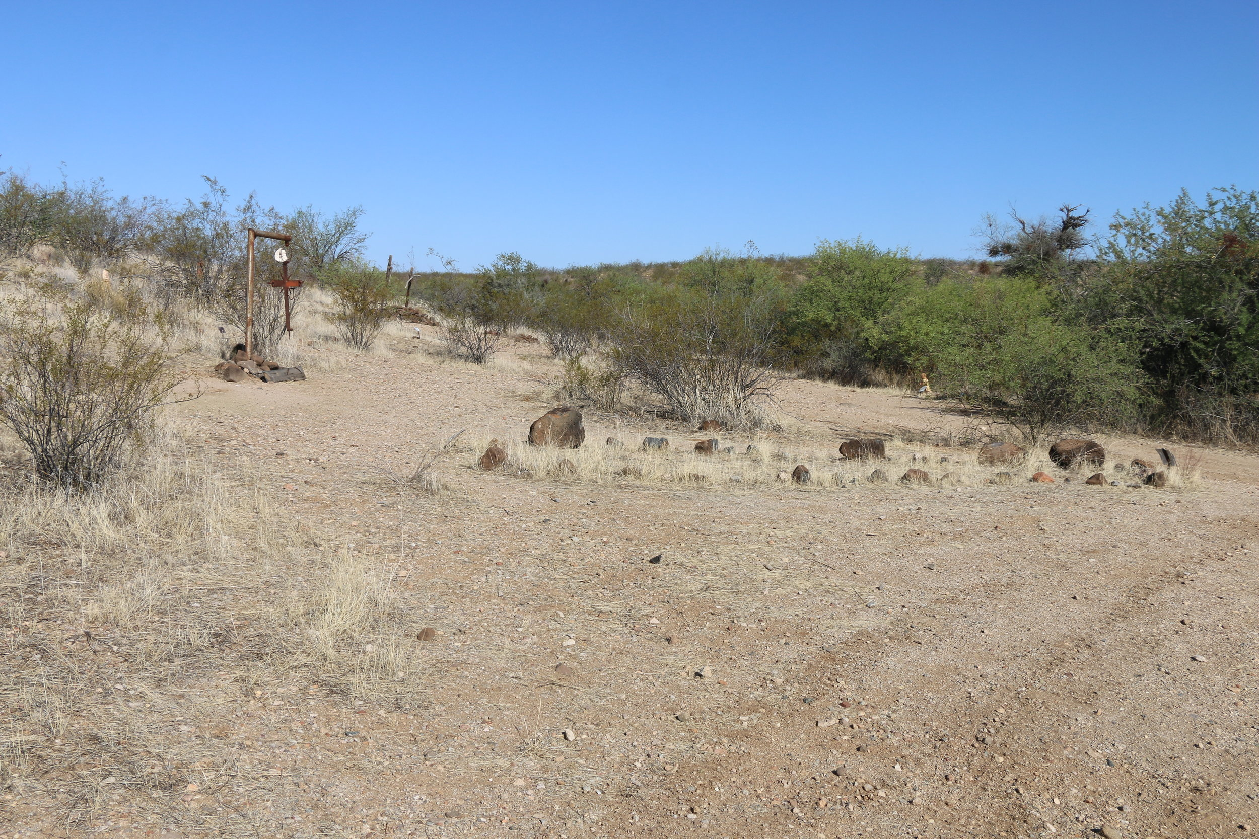 An overview of the massacre site.