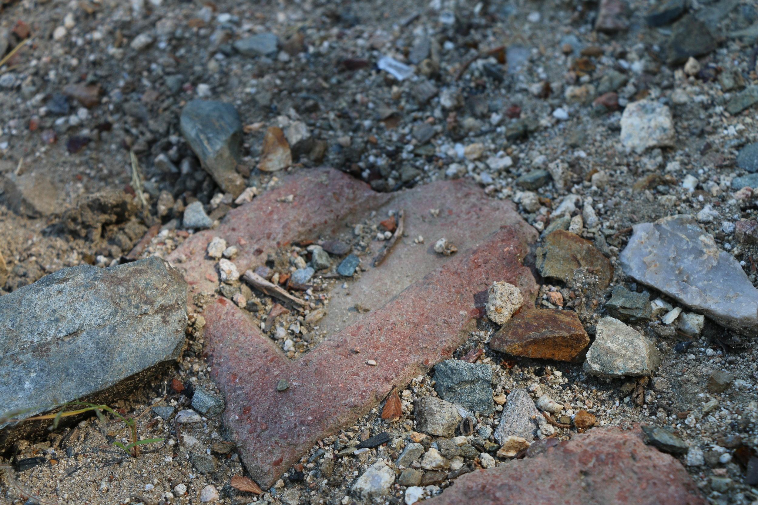 Bricks on the site of Oro Belle.