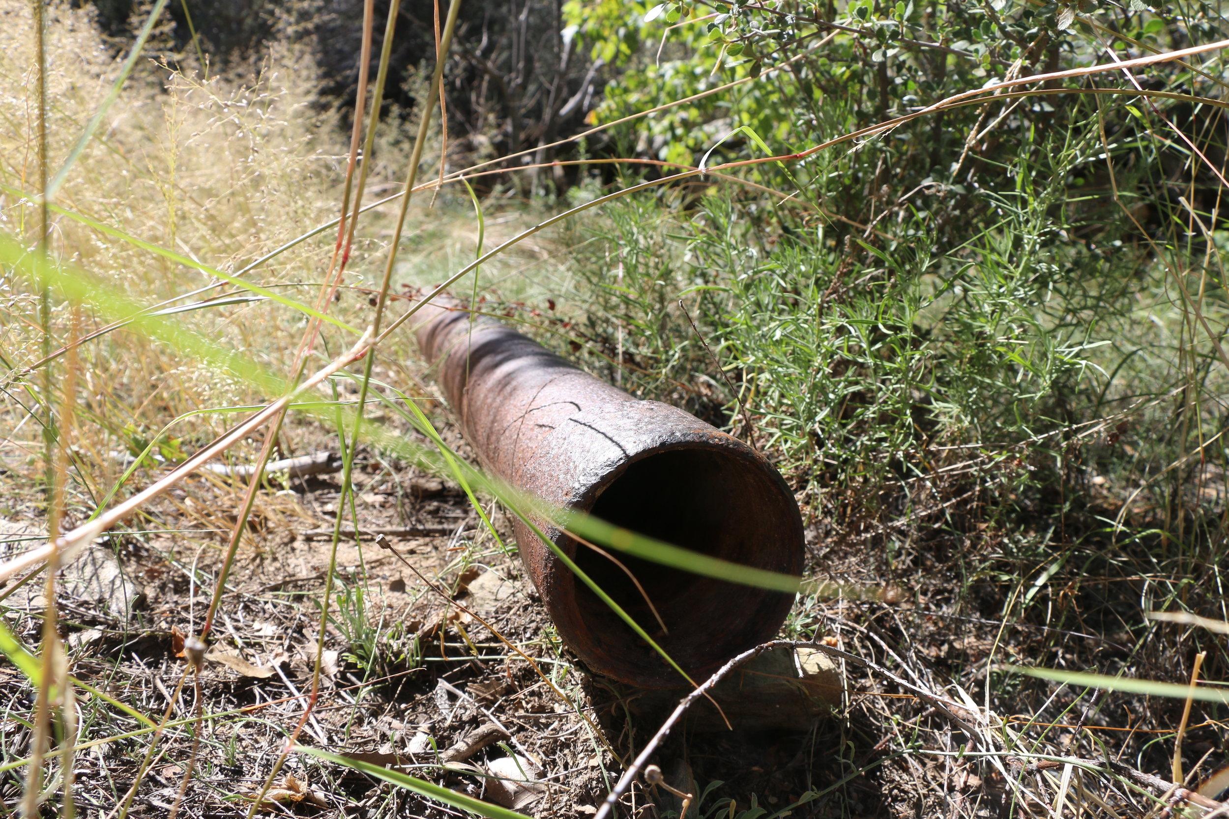 Water pipeline.