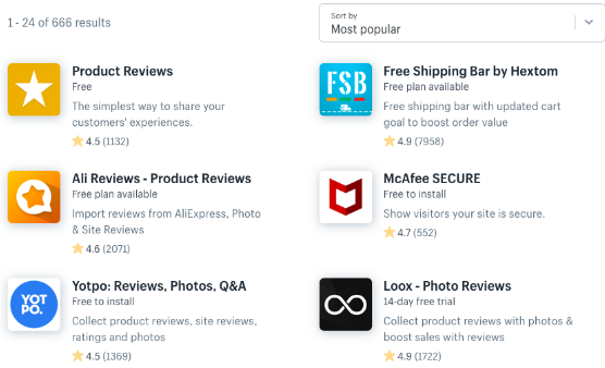 top apps in shopify app marketplace