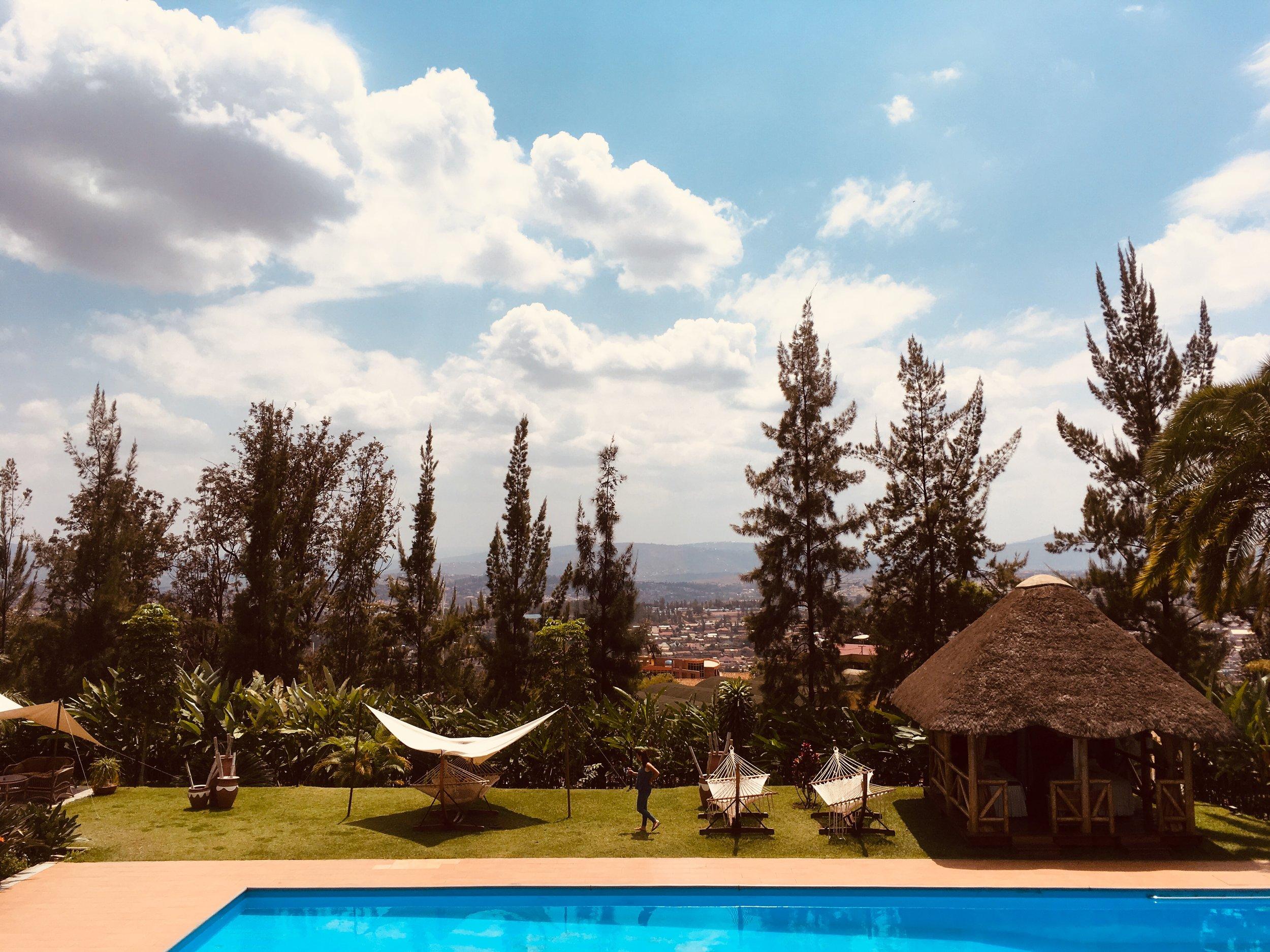Milles Collines Hotel poolside Kigali