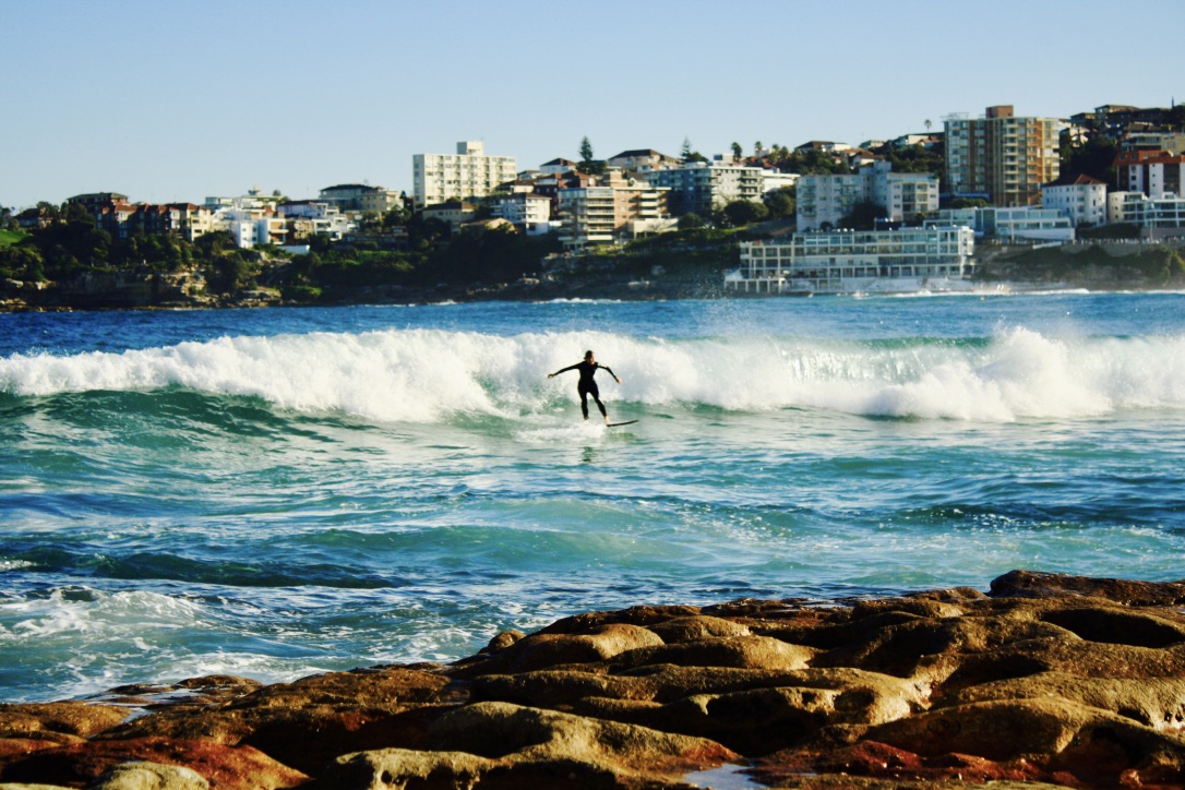 Bondi Beach lone surfer